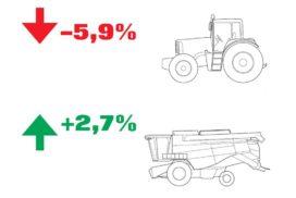 Immatricolazioni trattori e mietitrebbie in Italia nel periodo gennaio-settembre 2018