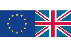 Bandiere UE e UK