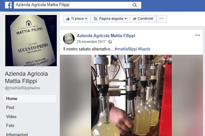 Esempio di marketing su Facebook per aziende vitivinicole