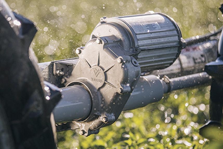 Il motore a corrente continua del nuovo sistema di avanzamento per i pivot Valley® X-Tec®