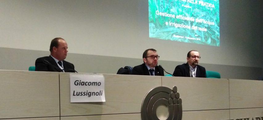 Da sinistra: Giacomo Lussignoli, presidente del Condifesa di Brescia, Fabio Rolfi, assessore all'agricoltura della Regione Lombardia e Mauro Belloli, vicedirettore di Coldiretti Brescia