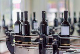 impianto di imbottigliamento del vino