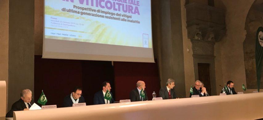 Un momento del Forum nazionale viticolo organizzato da Cia - Agricoltori con l'Accademia dei Georgofi li