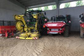 Ricovero macchine agricole azienda contoterzi