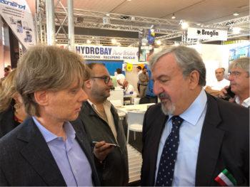Antonio Boschetti e Michele Emiliano ad Agrilevante