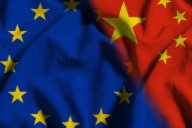 bandiera UE Cina